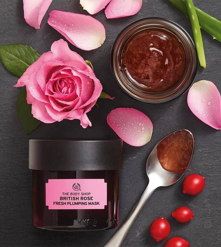 Mặt Nạ The Body Shop Cấp Nước làn da British Rose Fresh Plumping Mask