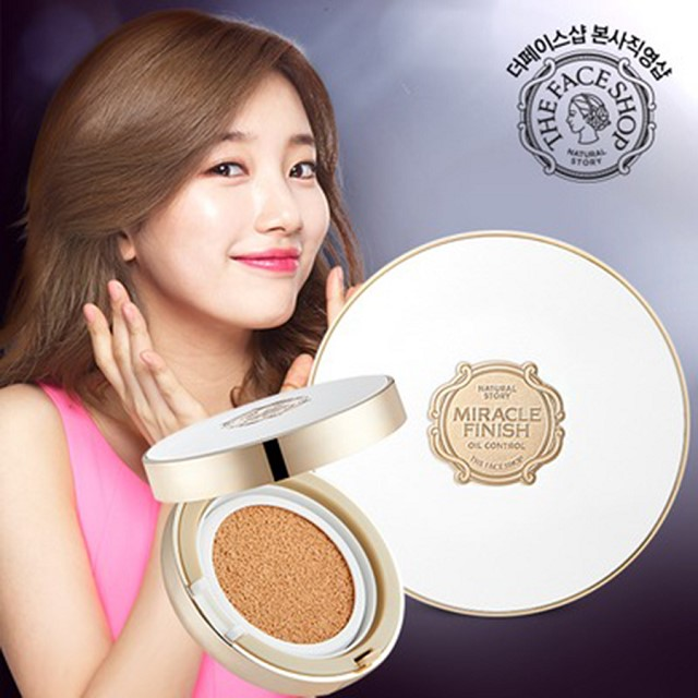 The Face Shop Cushion voi kha nang kiem dau cao