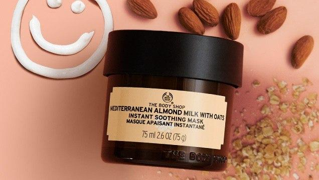Mặt Nạ The Body Shop Làm Dịu Da Mediterranean Almond Milk with Oats Instant Soothing Mask