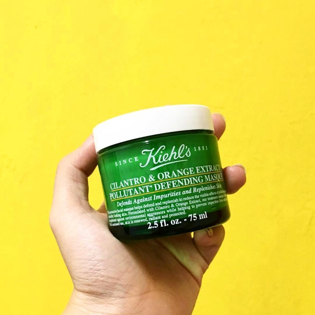 mat na ngu kiehl's Cilantro & Orange Extract Pollutant Defending Masque